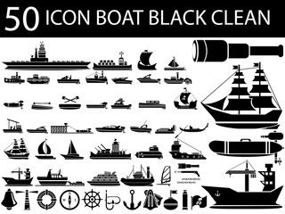 50 ICON PC BOAT BLACK CLEAN