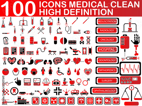 100 ICONS MEDICAL CLEAN
