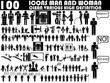 100 ICONS MAN AND WOMAN CLEAN VARIOUS