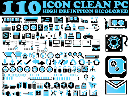100 ICONS PC CLEAN HIGH DEFINITION BICOLORED