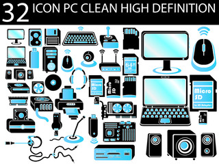 32 ICON PC CLEAN HIGH DEFINITION BICOLORED