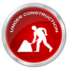 Web site under construction button