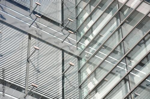 Leinwanddruck Bild Geschäftsgebäude in Luxemburg