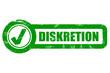 Checkbox grün grunge DISKRETION