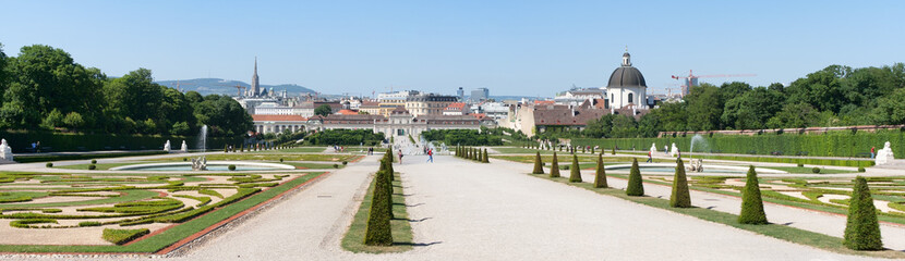 Park near Belvedere Castle in Vienna