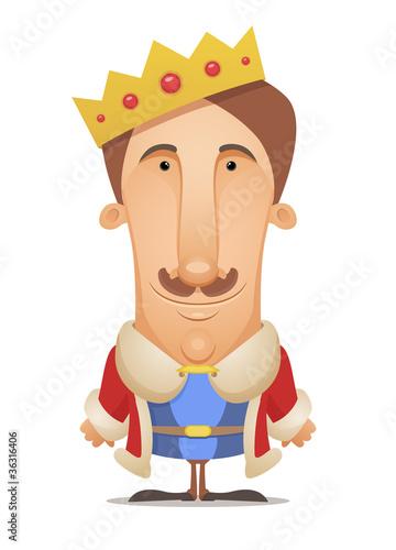 手绘男生国王头像