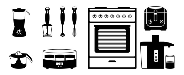 Kitchen electronics - icon set
