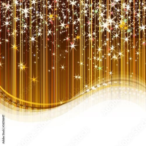 Goldener Hintergrund mit Sterne