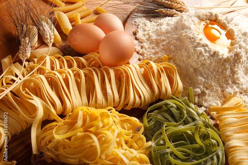 Leinwanddruck Bild Pasta all'uovo
