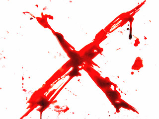 The bloody X sign.