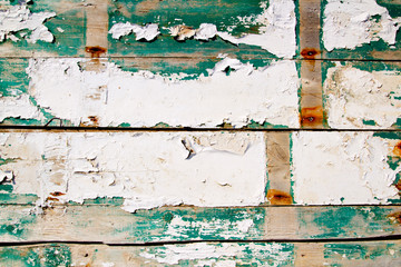grunge wood painter in white and green