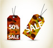 Set of vector autumn sale tags