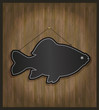 Blackboard fish card