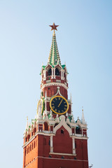 Russia, Moscow. Spassky Tower of Moscow Kremlin.