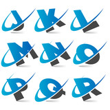 Swoosh Alphabet Set2 poster
