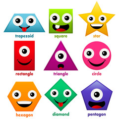 Educational Cartoon Basic Shapes