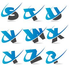 Swoosh Alphabet Set3