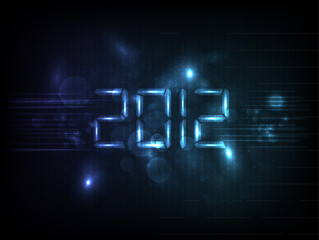 Happy new year 2012. Vector illustration.