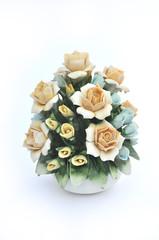 Composizione floreale porcellana di Capodimonte