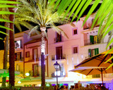 Ibiza island nightlife in Eivissa town poster