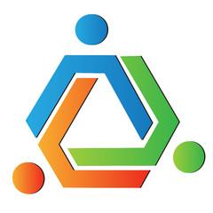 Team color creative logo