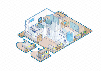 House Interior Isometric