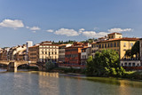 Riverside of the Arno River, Italy poster