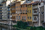 Buildings by the Arno River, Italy poster