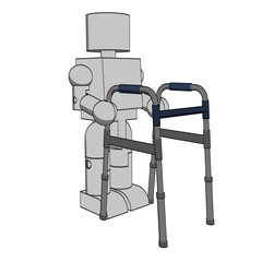 Block Figure with Walker
