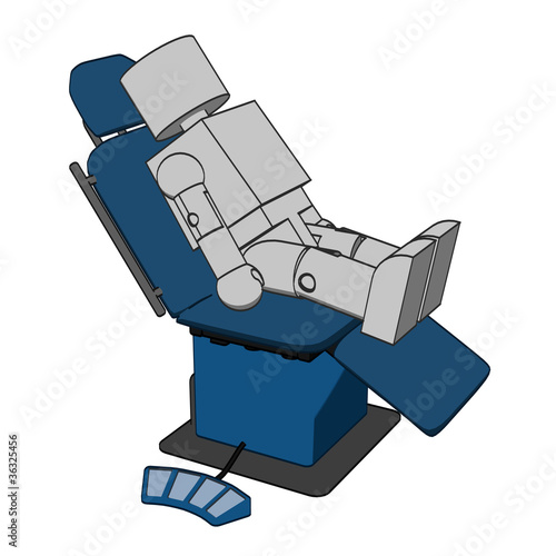 Block Figure in Dentist Chair