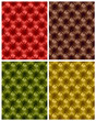 Set of colorful button-tufted leather backgrounds.