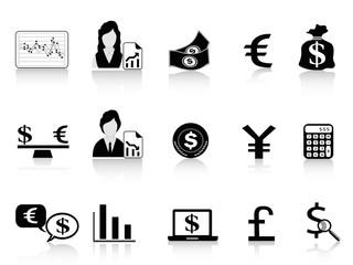 black Economy & Finance icons set