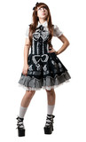 Cosplay girl in black dress poster