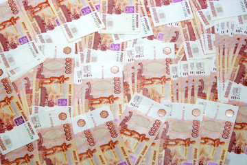 abstract scene with banknotes as finances background