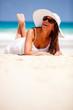 Beautiful beach woman