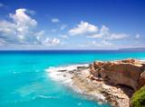 Fototapety Cala en Baster in Formentera mountains