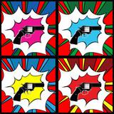 Pop art pistol - 36328087