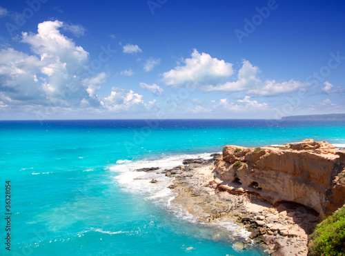 Cala en Baster in Formentera mountains