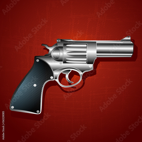 Grunge hand gun background