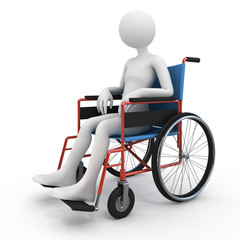 Handicapped person in wheelchair