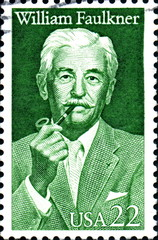 William Faulkner. US Postage.