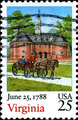 June 25, 1788. Virginia. US Postage.