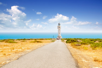 Barbaria cape lighthouse in Formentera