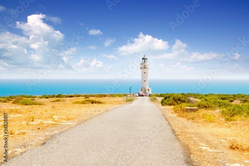 Barbaria cape lighthouse in Formentera
