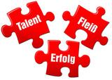 talent fleiß erfolg erfolgsfaktor puzzle poster
