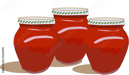 vasetto di passata pomodoro