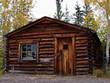Old weathered traditional log cabin, Yukon, Canada