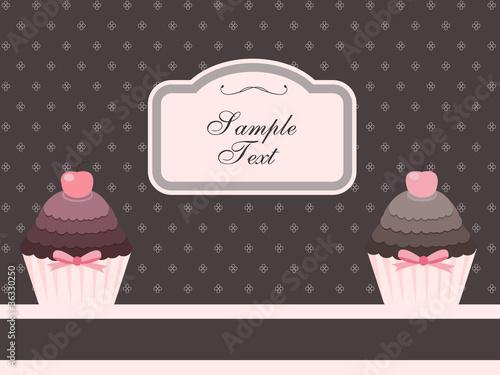 cupcake design or package design