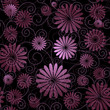 Black-violet seamless pattern