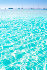 blue turquoise ripple Formentera water